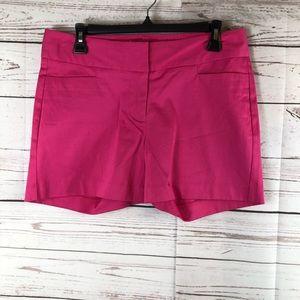 Chino dress  shorts size 6 fucsia stretch new